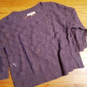 LOFT Cropped Sweater - L